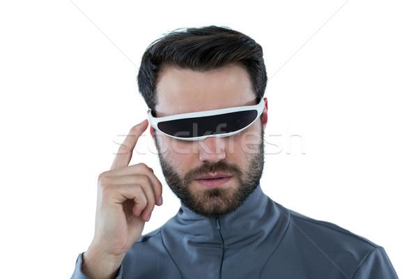 Człowiek faktyczny rzeczywistość okulary biały narzędzi Zdjęcia stock © wavebreak_media