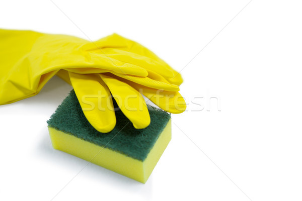 High angle view of glove and sponge Stock photo © wavebreak_media