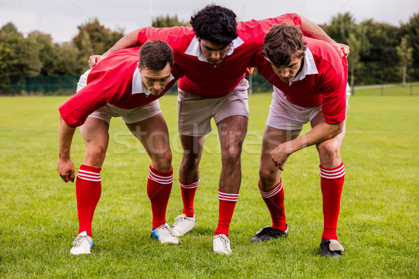 Rugby players ready to play Stock photo © wavebreak_media