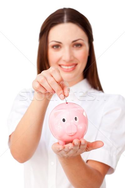 Jovem morena empresária dinheiro Foto stock © wavebreak_media