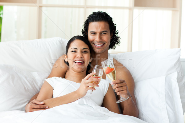 Smiling lovers toasting with Champagne Stock photo © wavebreak_media