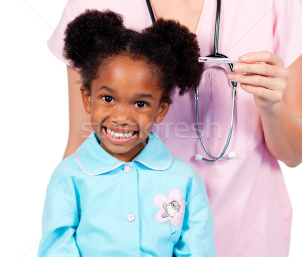 Adorable little girl attending medical check-up Stock photo © wavebreak_media