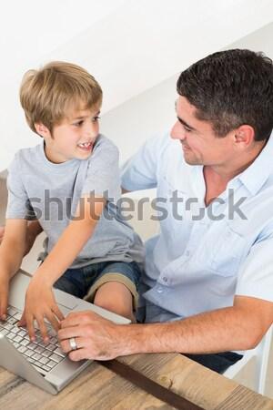 улыбаясь мало мальчика медицинской посещение стороны Сток-фото © wavebreak_media