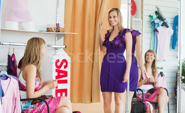 Delighted women choosing clothes together in a shop  Stock photo © wavebreak_media