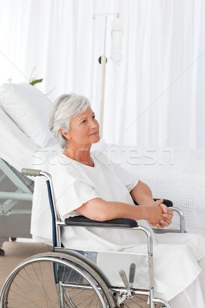 Senior mulher cadeira de rodas espaço idoso rir Foto stock © wavebreak_media