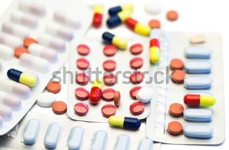 Pastillas ampolla tiras blanco hospital ciencia Foto stock © wavebreak_media