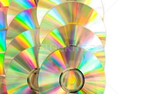コンパクトディスク 白 虹 ソフトウェア データ ファイル ストックフォト © wavebreak_media