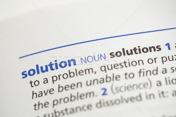 Soluzione definizione dizionario business blu informazioni Foto d'archivio © wavebreak_media