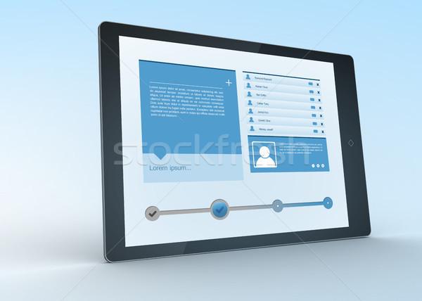 Digital tablet showing social media profile Stock photo © wavebreak_media