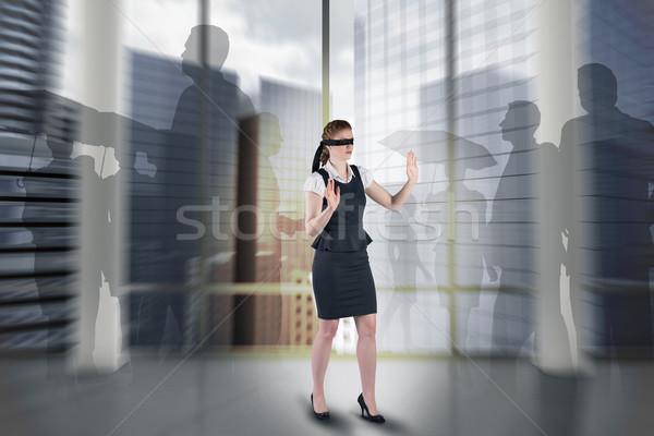 Obraz kobieta interesu pokój kolumny Zdjęcia stock © wavebreak_media
