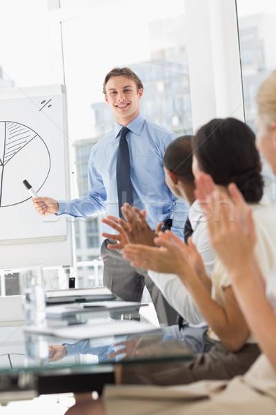 Businessman being applauded for his presentation Stock photo © wavebreak_media