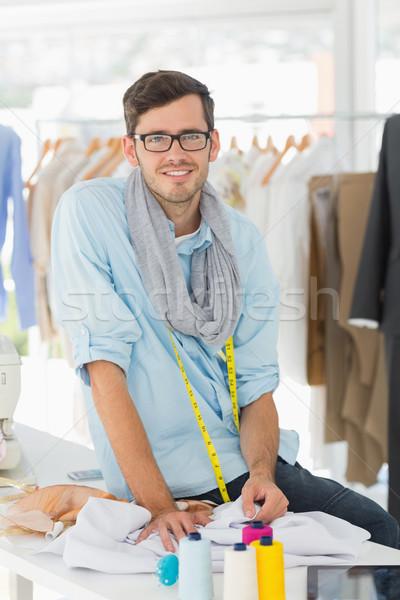 Young male fashion designer at work Stock photo © wavebreak_media
