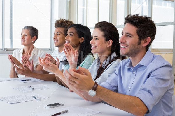 Business people clapping after presentation Stock photo © wavebreak_media