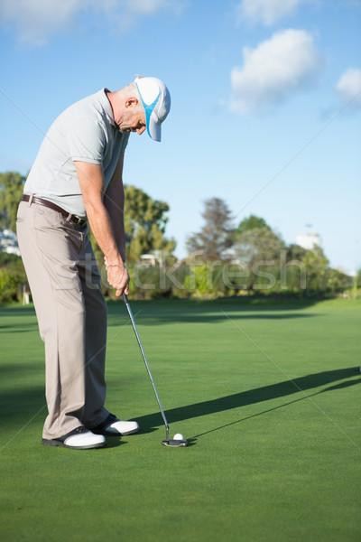 Przystojny golfa piłka zielone golf Zdjęcia stock © wavebreak_media
