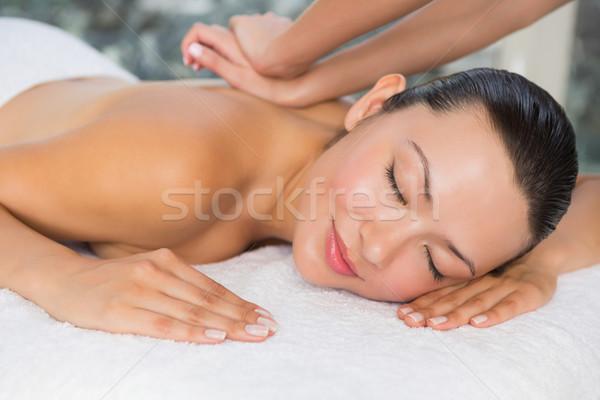 содержание брюнетка назад массаж Сток-фото © wavebreak_media