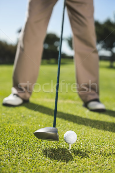 Golfer about to tee off Stock photo © wavebreak_media