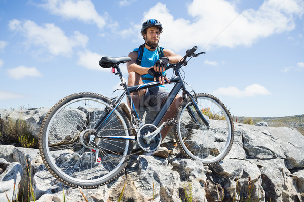 Geschikt fietser pauze Stockfoto © wavebreak_media