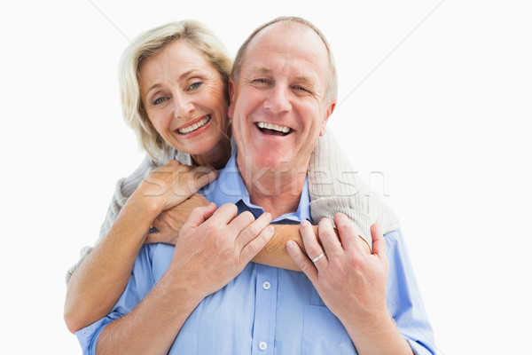 Feliz maduro casal sorridente câmera Foto stock © wavebreak_media