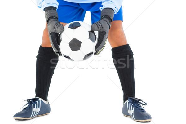 вратарь синий мяча белый Футбол Сток-фото © wavebreak_media