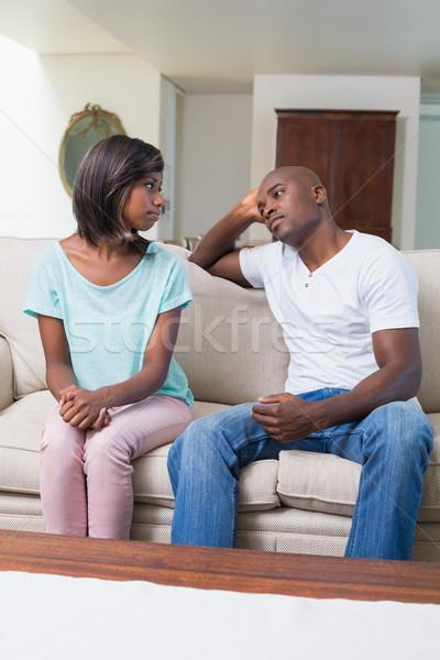 несчастный пару не говорить аргумент диван Сток-фото © wavebreak_media