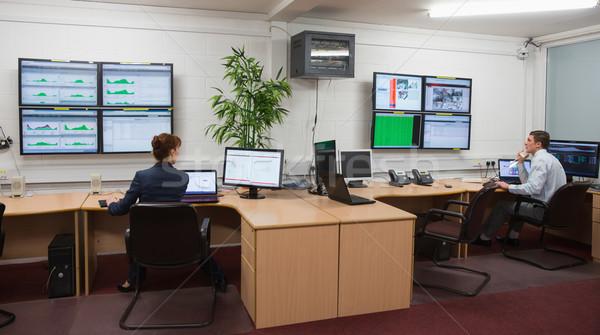 Oturma ofis çalışma büyük veri merkezi Stok fotoğraf © wavebreak_media