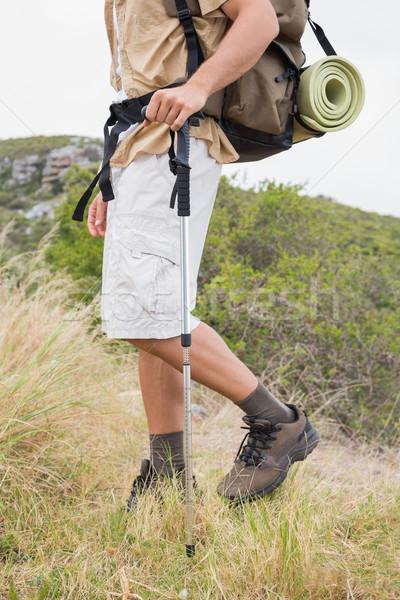 Baixo seção caminhadas homem caminhada montanha Foto stock © wavebreak_media