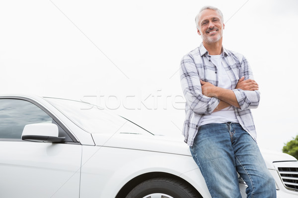 Man leaning on the bonnet Stock photo © wavebreak_media