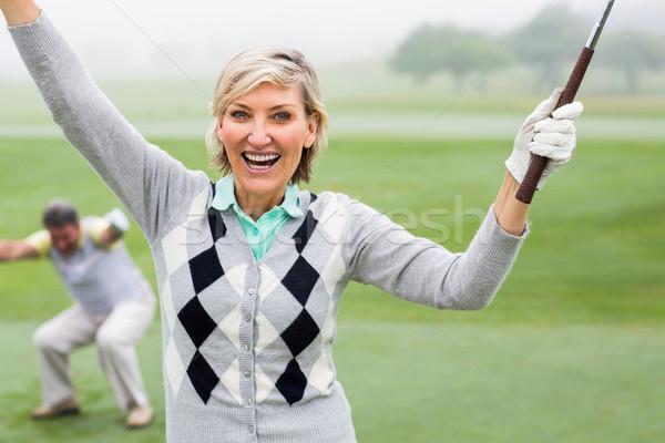 Lady гольфист камеры партнера за Сток-фото © wavebreak_media