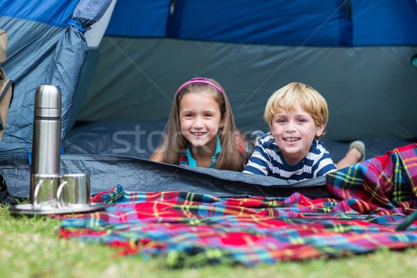 Boldog gyermek park együtt napos idő lány Stock fotó © wavebreak_media