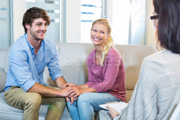 Stock photo: Psychologist and happy couple
