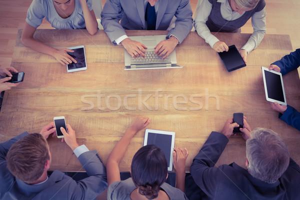 Photo stock: équipe · commerciale · travail · multimédia · bureau · femme