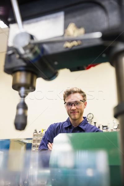 Inżynierii student uśmiechnięty kamery uczelni szkoły Zdjęcia stock © wavebreak_media