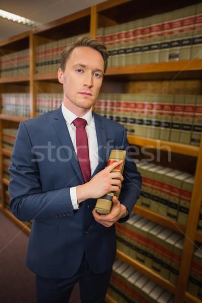 ハンサム 弁護士 法 ライブラリ 大学 図書 ストックフォト © wavebreak_media