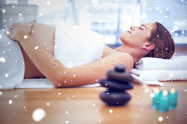 画像 雪 妊婦 スパ 女性 ストックフォト © wavebreak_media