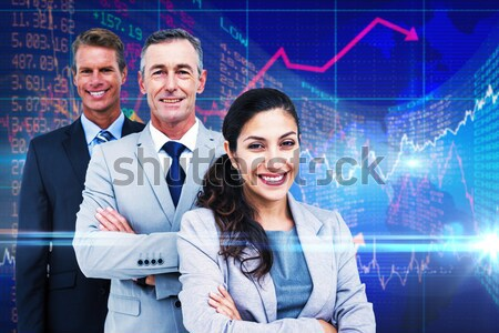 Stock fotó: Boldog · család · néz · tank · akvárium · férfi · hal