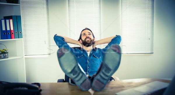 Empresario relajante escritorio oficina feliz Foto stock © wavebreak_media