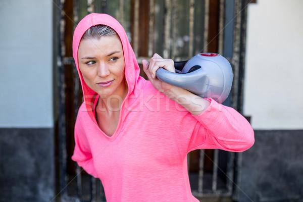 きれいな女性 ピンク 重量 市 スポーツ ストックフォト © wavebreak_media