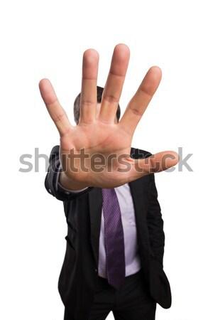 Negocios mano gris compuesto digital hombre Foto stock © wavebreak_media