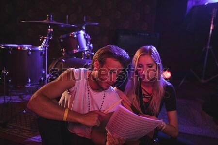 Happy performers performing at nightclub Stock photo © wavebreak_media