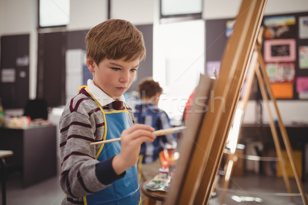 внимательный школьник холст рисунок класс Сток-фото © wavebreak_media