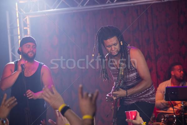 Singer performing on stage Stock photo © wavebreak_media