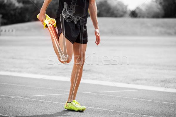 Botten atleet man digitale composiet Stockfoto © wavebreak_media