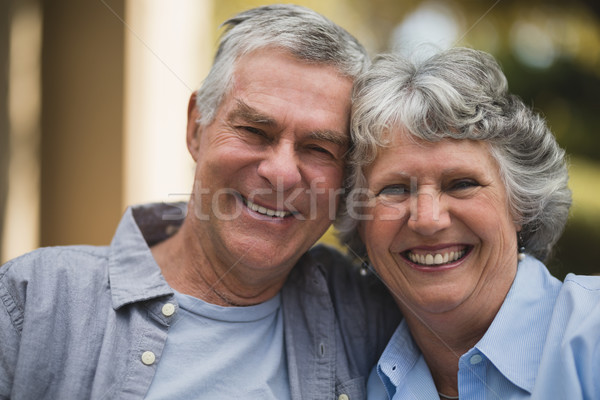 Portrait of senior couple in yard Stock photo © wavebreak_media