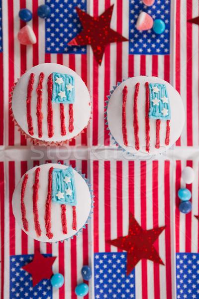 Close-up of decorated cupcakes Stock photo © wavebreak_media