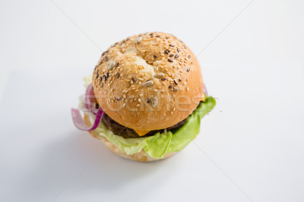 High angle view of hamburger with sesame seed Stock photo © wavebreak_media