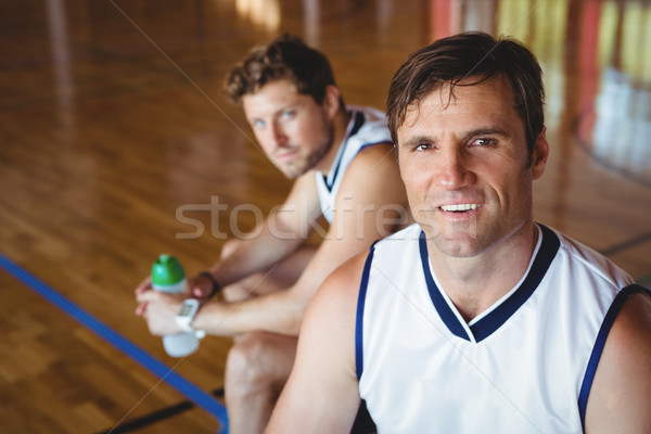 High angle portrait of basketball players Stock photo © wavebreak_media