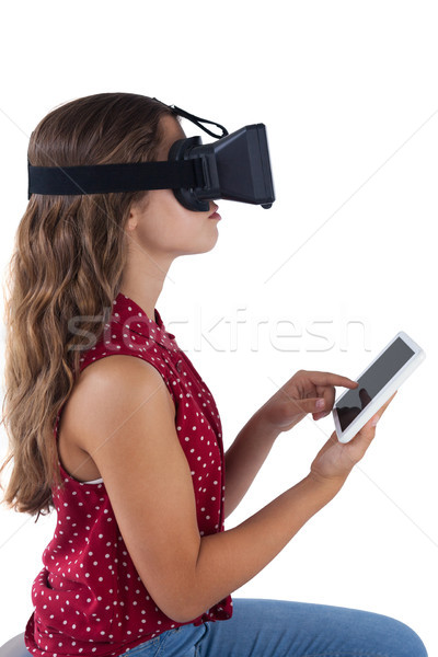 виртуальный реальность гарнитура цифровой таблетка Сток-фото © wavebreak_media