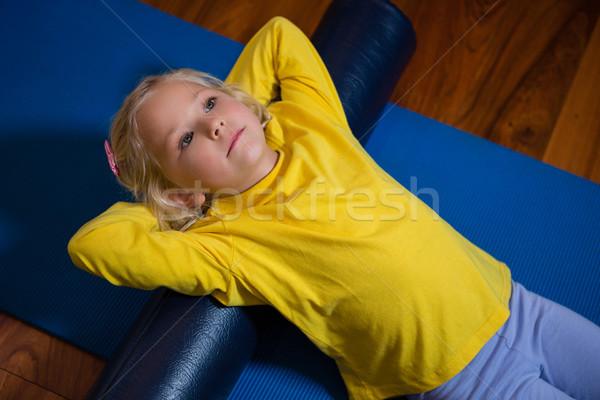 Kislány testmozgás kórház aranyos lány gyermek Stock fotó © wavebreak_media