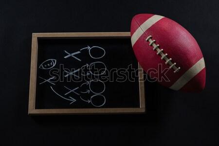 Közelkép amerikai futball fej viselet mesterséges Stock fotó © wavebreak_media