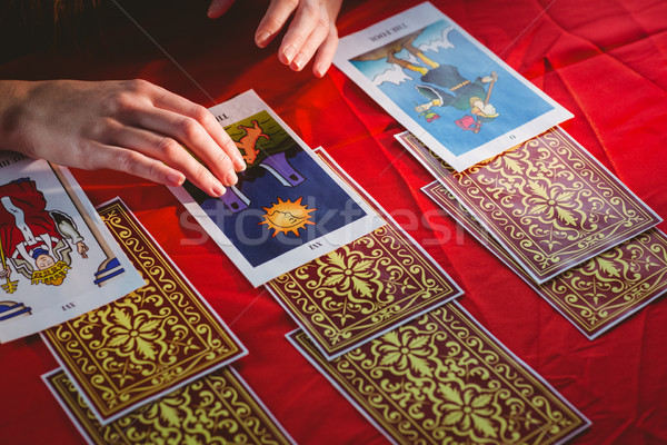 Fortune teller using tarot cards Stock photo © wavebreak_media